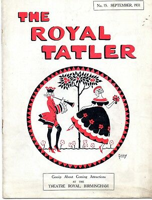 Birmingham Theatre Royal 1931 Tatler Magazine. Gracie Fields.
