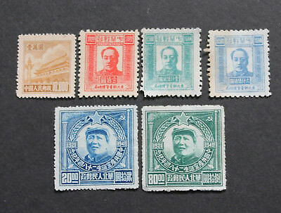 CHINA 1949 Stamps Chairman Mao 1951 R5 Stamps Unused F