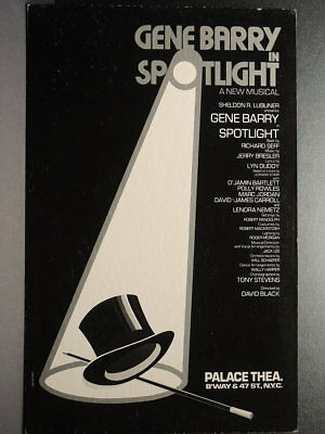 "TRITON offers Orig 1978 B'way Poster SPOTLIGHT Gene Barry musical ""as-is"" sale"