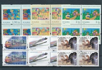 [G47172] Poland : Good Lot of Very Fine MNH Stamps in Blocks of 4