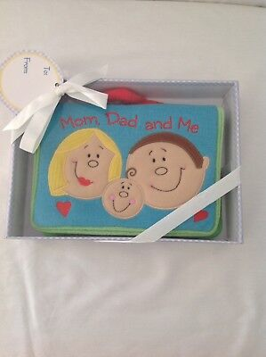Baby Gund Mom, Dad And Me Soft Photo Album, New In Box