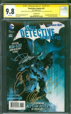 Batman Detective Comics 27 CGC 4XSS 9.8 Jim Lee 14 Variant King Snyder Capullo