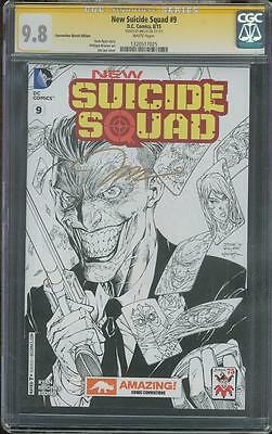 Suicide Squad 9 CGC SS 9.8 Jim Lee Gold Signed Joker Sketch Top 1 Variant