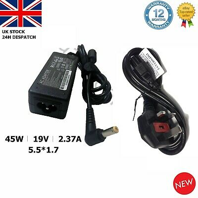 Acer Laptop Charger Adapter Power Supply A13-045N2A 19V2.37A 45W 5.5x1.7mm