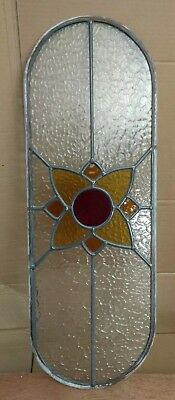 Stain Glass Panel 3 colour flower & clear