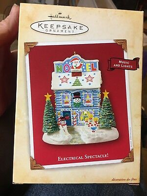 Hallmark Keepsake Christmas Ornament Electrical Spectacle 2004 Music and Lights