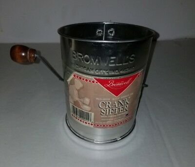 Bromwell 2 Wire Crank Sifter 3 Cup - New With Label