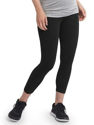 Gap Factory Maternity Pure Body Full Panel Capri Leggings Black ~ NWT ~ Size M
