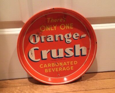 Vintage Orange Crush Serving Tray There's Only One Orange Crush Soda Collectible
