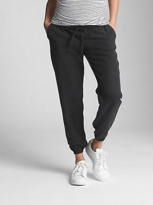 Gap Maternity Drawstring Joggers in TENCEL in Black ~ NWT ~ Size Medium M