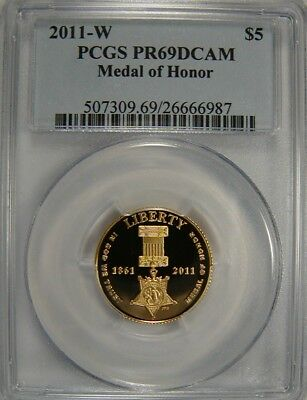 2011-W $5 Medal of Honor PCGS PR69 DCAM