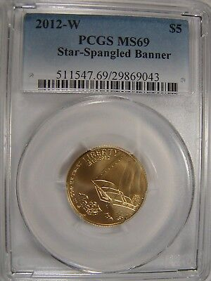 2012-W $5 Star-Spangled Banner PCGS MS69