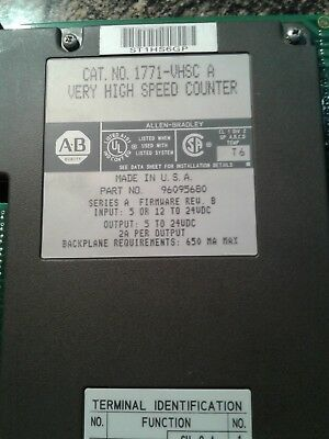 Allen Bradley 1771-VHSC/B PLC-5 Very High Speed Counter Module FW Rev. B. Tested
