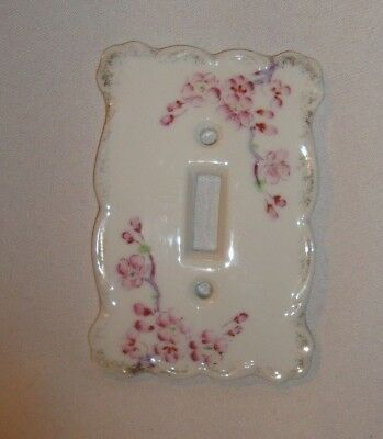 Vintage Porcelain Floral Light Switch Wall Plate Cover Magnolia Blossoms