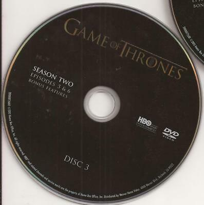 Game of Thrones HBO (DVD) Second Season 2 Disc 3 Replacement Disc U.S. Issue!