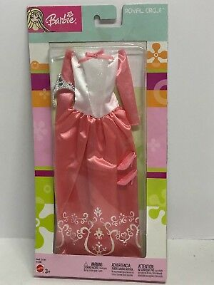 C1191 #C1357 Barbie Fashion Ave Royal Circle Red and Gold Gown with Tiara Asst