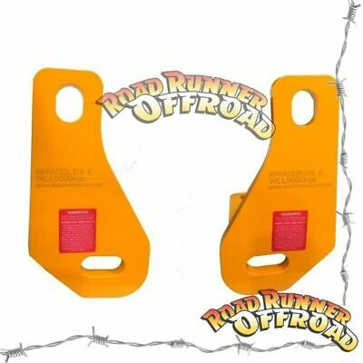 Pair Roadsafe Heavy Duty Tow Points For Nissan Patrol Y62 5000kg Recovery point