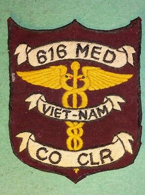Vietnam 616Th Co. Of The 44Th Medical Division Patch !!!