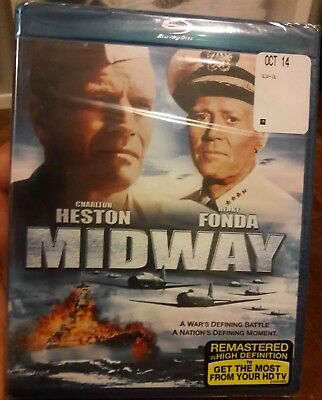 MIDWAY (Blu-ray Disc, 2013) NEW SEALED CHARLTON HESTON HENRY FONDA