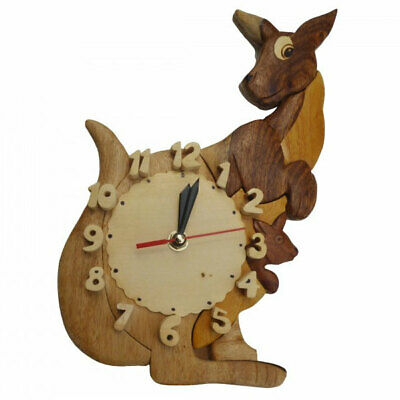 Q Toys Kangaroo Wooden Wall Clock