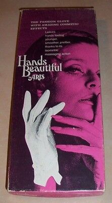Vintage Hands Beautiful Ladies Isometric Fashion Gloves By Aris New In Box Rare!