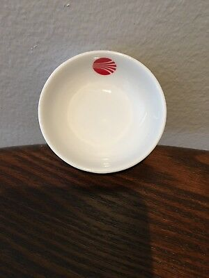 Vintage Continental Airlines Condiment Bowl Red Pattern