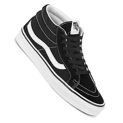 cec83180c6 Vans Sk8-Mid Reissue Black White Men s mid Top Skate Trainers