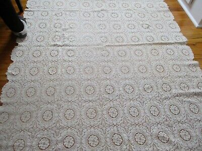 Beautiful vintage lace tablecloth..