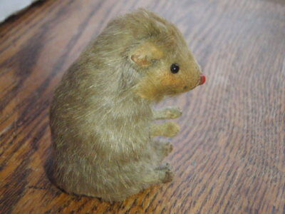 Vintage M22 Original Toy Fur Mouse Made West Germany W/label No Tail Animal Mice