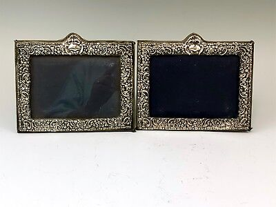 Matched Pair English Sterling Silver Photo Frames
