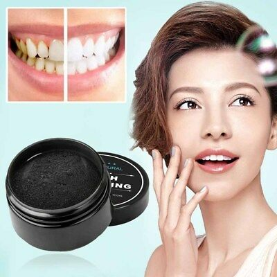 Natural Teeth Whitening Bleaching Activated Charcoal Powder Tooth Beauty Care