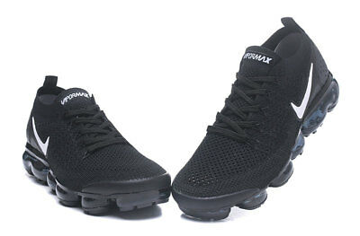 NIKE AIR VaporMax Flyknit 2.0 2018  MEN Black Running Trainers Shoes