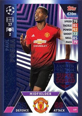 TOPPS MATCH ATTAX Champions League 18/19 Paul Pogba Limited Edition Super Squad