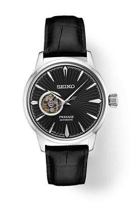 Brand New Seiko SSA359 PRESAGE Automatic w/ Exhibition heartbeat and Back Black