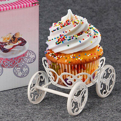 Cupcake Holder Cookie Pastry Wedding Party Decor Cake Mini Cake Stand Cart Wheel
