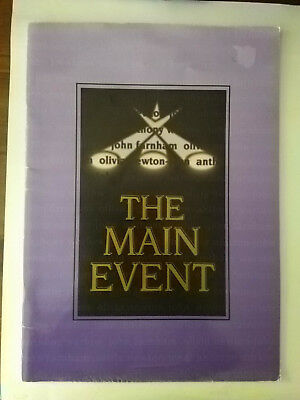 The Main Event Theatre Program