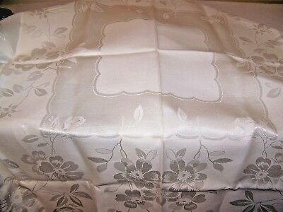 VINTAGE DAMASK SIMTEX TABLECLOTH SQUARE 42 x 42 Daisies