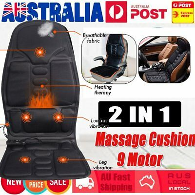 Electronic Vibration Massage Chair Pad Seat Cushion w/ Heat for Home Office Car