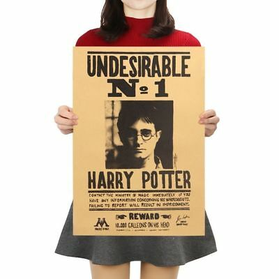 Harry Potter Undesirable Poster Paper Vintage Wall Sticker Placard Home Decor