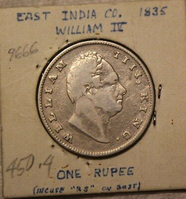 1835 East India Company One 1 Rupee William Iv Silver Coin