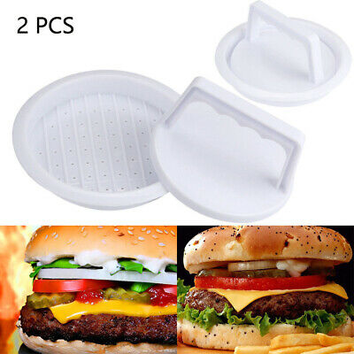 2Pcs Hamburger Press Form Mold Meat Beef Grill Burger Maker Household Accessory