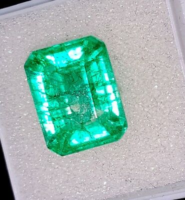 9.07 Ct Certified Natural Emerald Loose Gemstone Colombian Cushion Shape