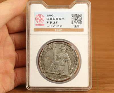Art old tibet silver copper Belle 1903 year collection Valuable Coin