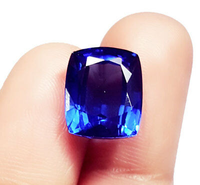 Certified Cushion Shape 9.47 Ct Loose Gemstone Natural Blue Sapphire