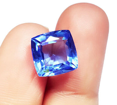 7.22 Ct Certified Cushion Shape Loose Gemstone Natural Blue Sapphire