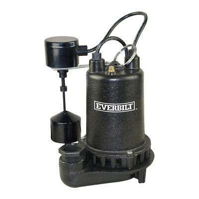 Everbilt 3/4 HP Professional Sump Pump Permanently lubricated ball bearings ensu