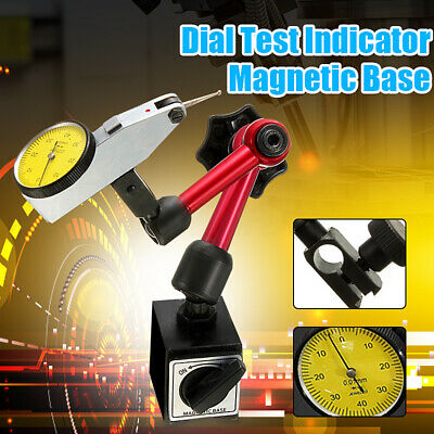 Universal Flexible Magnetic Metal Base Holder Stand Dial Test Indicator Tool US