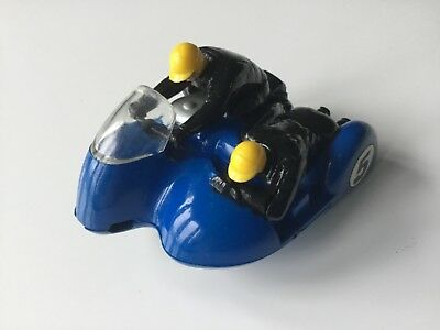Vintage Scalextric B1 Motorbike and Sidecar Typhoon Blue Front Wheel Used