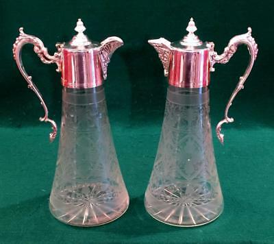 Lovely pair of Victorian claret jugs by Roberts & Belk circa 1880