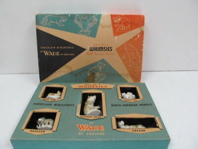 Wade Whimsies Complete Set No.9 North American Animals Boxed